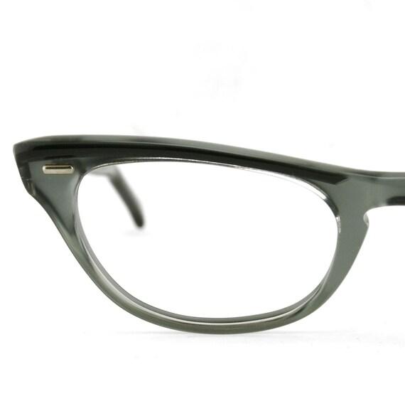 Crystal Grey Cateye Glasses Vintage Eyeglasses New Old Stock