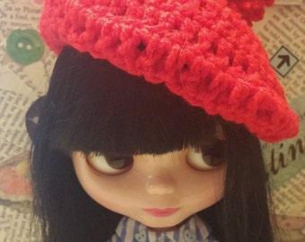 Blythe crochet beret hat