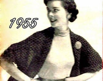 Cape Stole Vintage Crochet Pattern 723053