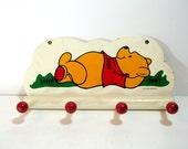 Vintage Winnie The Pooh Child's Coat Rack, Wall Hooks