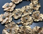 Reserved for CT MASSIVE Vintage Pansy Flower Necklace  . Costume jewelry