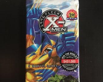 Unopened 1996 Marvel X-Men Cards Pack from Fleer