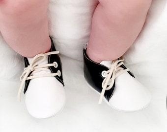 Vintage Style Baby Saddle Shoes, Vegan Leather Baby Shoes, Oxford Baby Booties, Baby Girl Shoes, Baby Boy Shoes, Crib Shoes, Soft Sole Shoes