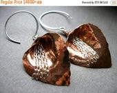 Mothers Day SALE Small Waterfall Lily Earrings in Copper, Bronze or Sterling