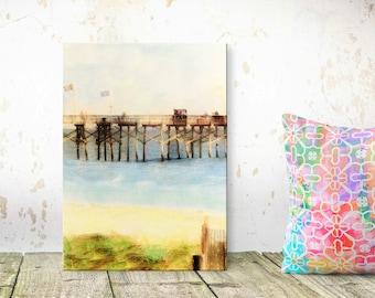 Myrtle Beach South Carolina - Canvas Art - Myrtle Beach Pier - East Coast Beach - Beach Decor - Sandy Beach Colors - Canvas Art Print - 8x12