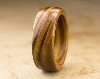 Size 8 - Guayacan Wood Ring No. 421
