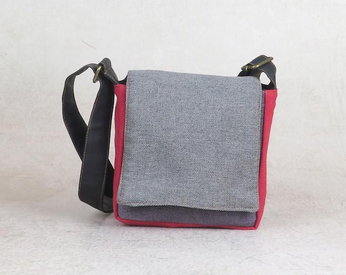 leather crossbody purse cross body bag in mint blush