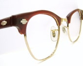 Vintage Red Art Craft Cats Eye Eyeglasses Sunglasses Frame