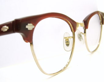 Vintage Red Art Craft Cats Eye Eyeglasses Sunglasses Frame