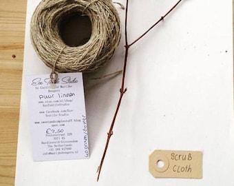 linen yarn with simple knitting pattern for scrub wash cloth