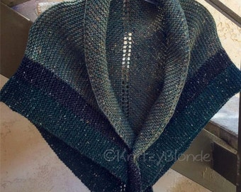 Claire Outlander Rent Shawl Triangle Tweed Highlands Wool, 4 Color Options, Made to Order