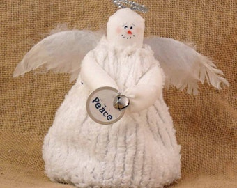 Small Fabric Snow Angel Christmas Winter Decoration