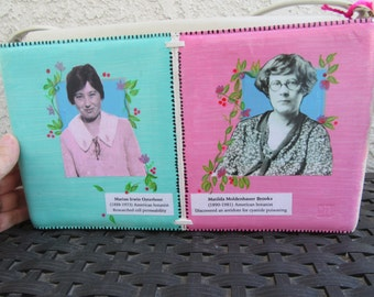 Upcycled Purse, Colorful Handbag, Women Botanists