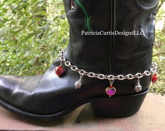 Dark Red Maroon dyed Jade and white glass pearl boot bracelet