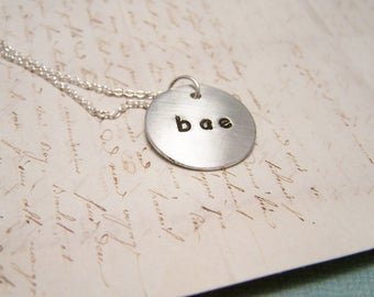 Bae Necklace. Before Anything Else. Girlfriend. Wife. Sweetheart. Soulmate. Tiny. Delicate.Minimalist