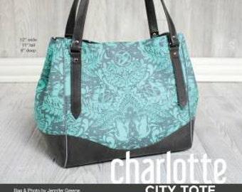 Swoon Charlotte City Tote Handbag Sewing Pattern