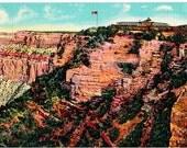 Vintage Arizona Postcard - The El Tovar Hotel on the Rim, Grand Canyon (Unused)