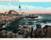 Vintage Maine Postcard - Portland Head Light (Unused)