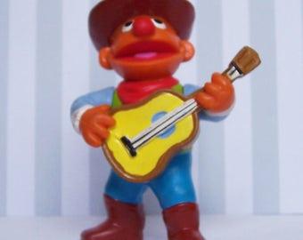 Ernie Cowboy Guitar Playing Cake Topper Figurine Collectible Sesame Street PVC