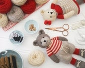 New! 6 Teddy Bear variations/ Girl Bears/ Boy Bears/ Toy Knitting Pattern PDF INSTANT download/ Knitted Bears