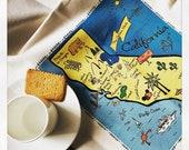 California Map Kitchen/Tea Towel