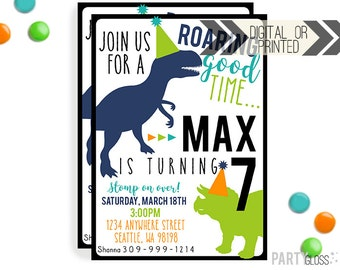 Dinosaur Invitation | Digital or Printed | Dinosaur Party | Modern Dinosaur Invitation | Dino Invitation | Dinosaur Themed Birthday