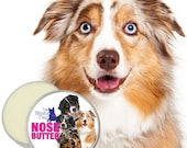 Australian Shepherd ORIGINAL NOSE BUTTER® All Natural Balm for Dry Dog Noses Choice: 1 oz, 2 oz or 4 oz Tin Your Choice of 5 Aussie Labels