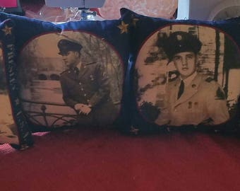 Four Elvis Small Army Pillows