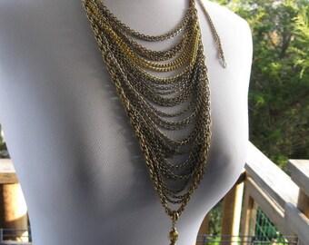 Drape Chain Multi-Strand Necklace #25