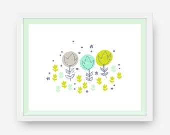 Downloadable Floral Print - March - Printable Art
