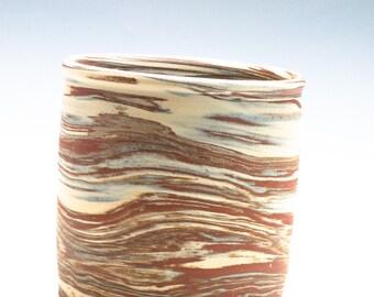 Swirly Blended Clay Brush/Pencil/Knitting Needles Caddy/Vase