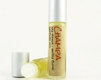 NAG CHAMPA Perfume Oil /  Earthy Floral Roll on Fragrance Oil / Pocket or Purse Scent