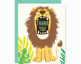 Lions, Tigers, Bears, THANK YOU notes, cards