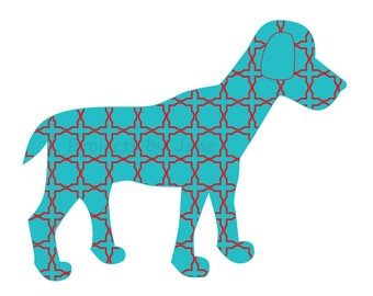 Dog applique template | PDF applique pattern | applique template
