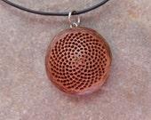 Sacred geometry - Mandala jewelry - botanical Protea necklace -  natural Fibonnaci sequence jewelry handmade in Australia