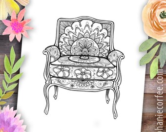 Sunrise Chair - Instant Digital Download
