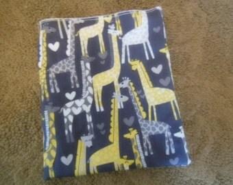 Sandwich Bag w Michael Miller Giraffe Love fabric ,sale BUY 3 GET 1 FREE