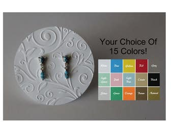 Earring Cards - Necklace Cards - Jewelry Cards - Embossed Craft Show Retail Display Cards - Choice of 15 Colors - 10, 20, 50 or 100 Cards