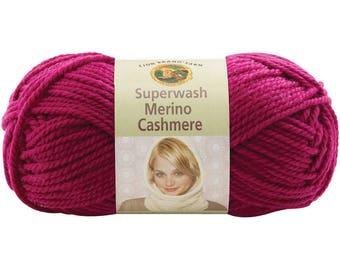 Lion Brand Superwash Merino Cashmere Yarn - Sangria