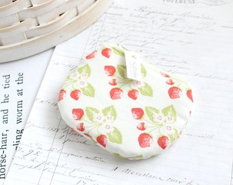 Small Strawberry Coin Purse Strawberry Change Purse Cute Zippy Pouch