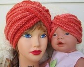 Matching mom and baby turban Mother daughter hat Mom and daughter matching mom and baby Two-of-a-Kind Fashion turban hat womens baby turbans