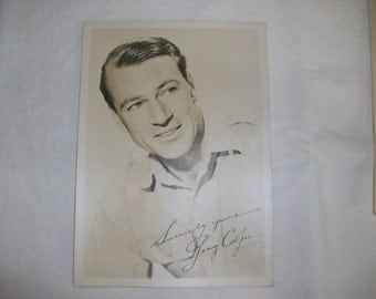 Signed Gary Cooper Sepia 5 by 7 Picture From 1940's, Photograph