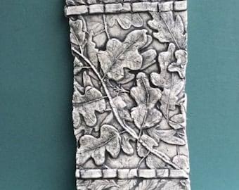 Oak Leaves ceramic porcelain relief tile