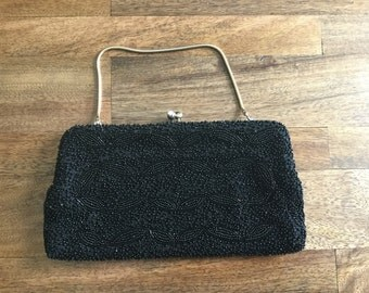 SALE 40s Elegant Beaded Clutch