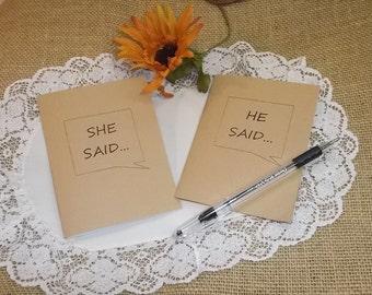 He Said She Said Wedding Vow Book Set