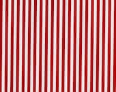 Red and White Clown Stripe Fabric from Michael Miller - By the Yard - 1 Yard - Red Stripes - CX3584-REDX-D