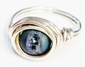 Druzy Ring   Blue Druzy Ring   Druzy Gemstone Ring   Sterling Silver Ring   Silver Jewelry