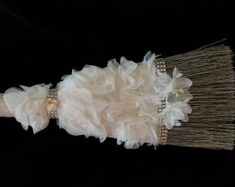 Silver Sparkle Jumping Broom
