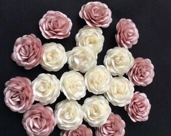 Silk saten rose , Ivory rose, rose applique, Bridal flowers, Wedding decoration,