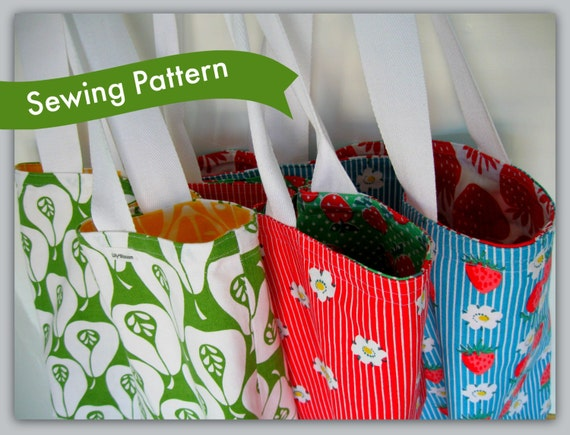 Reversible Tea Towel Tote Sewing Pattern
